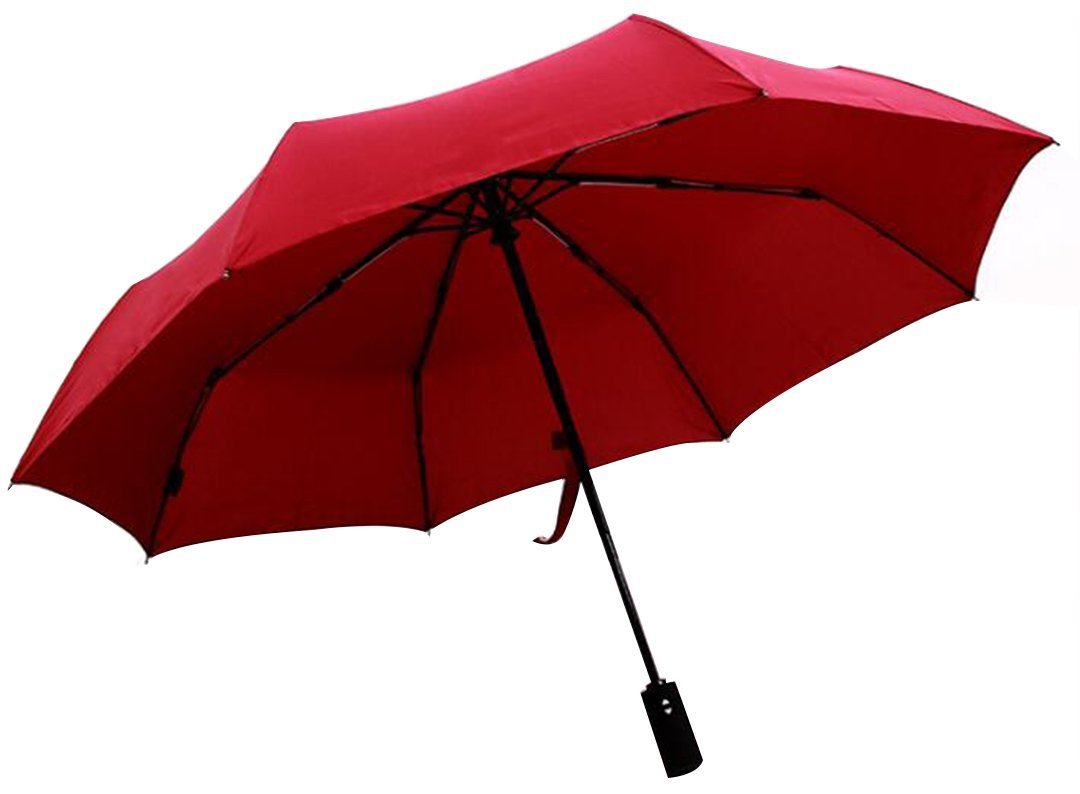 HorBous Auto Travel Business Umbrella, Windproof Rain Umbrellas Auto Open & Close for Men / Women Folding Umbrella Wine Red/ Black/ Navy