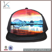Custom Embroidered Snapback Flat Bill Mesh Wholesale Trucker Hats