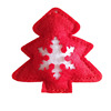 Wholesale tree shape red felt christmas snowflake