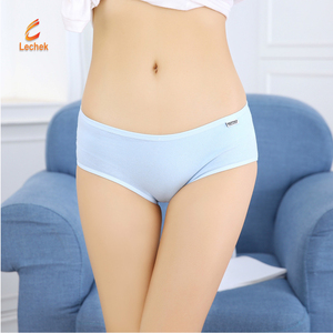 New style lovely candy color women underwear simple seamless teen girls panties