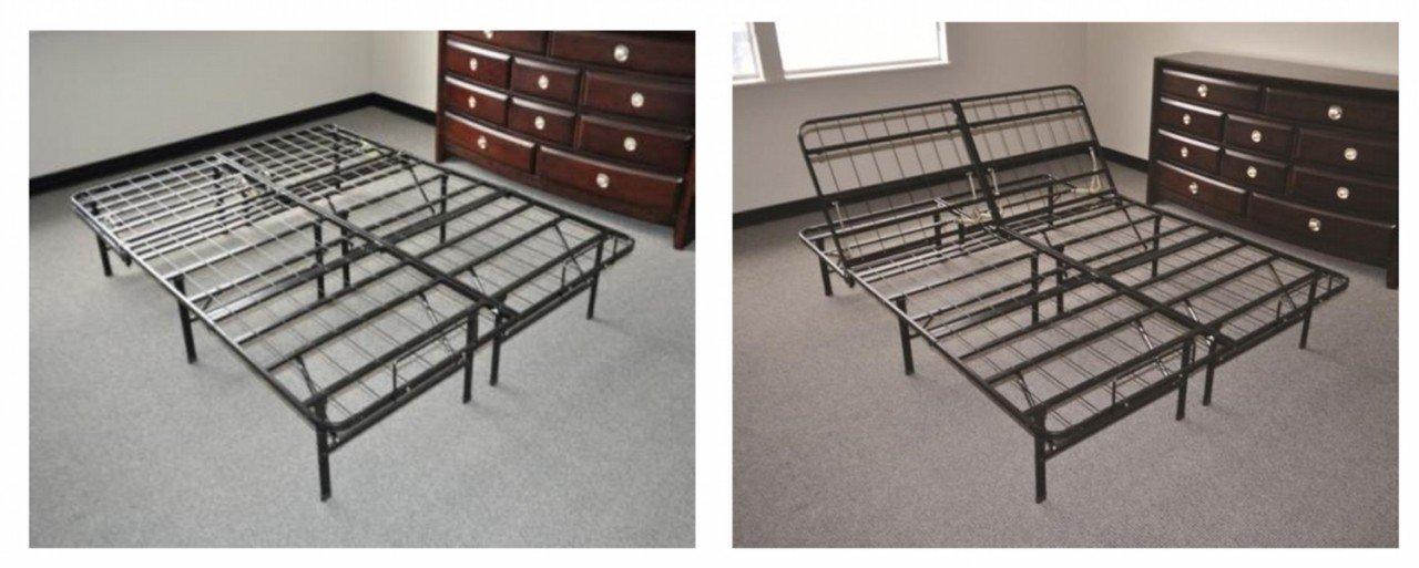 Slumber Saver Easy Change Adjustable Platform Riser Bed Frame Adjustable Base Size=Twin Xl Add Mattress=Add 6-In Memory Foam Mattress