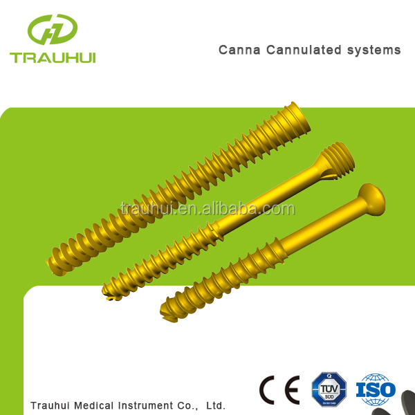 Cannulated screw Orthopedic medical implant plates and screws