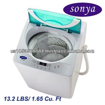 Sonya 13.2lbs Compact Portable Apartment Size Washing Machine Washer ...