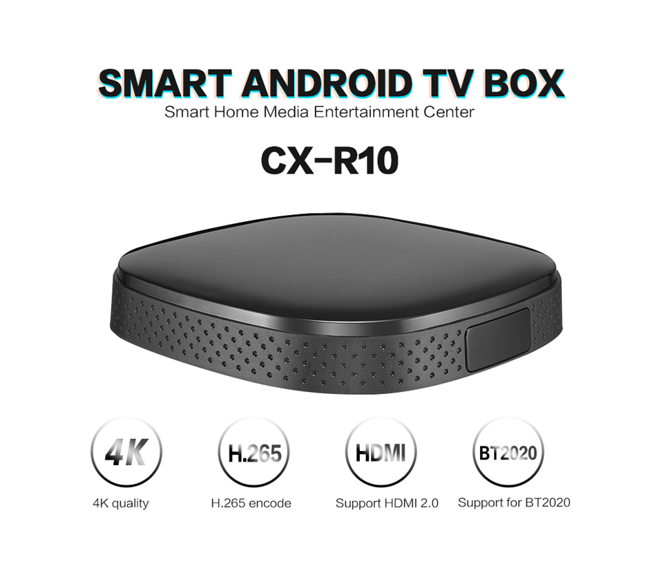 Sunchip RK3229 Bluetooth Draadloze Tv Box Android9 Kodi Tv Box Rk3229 4K Android Tv Box CX-R10
