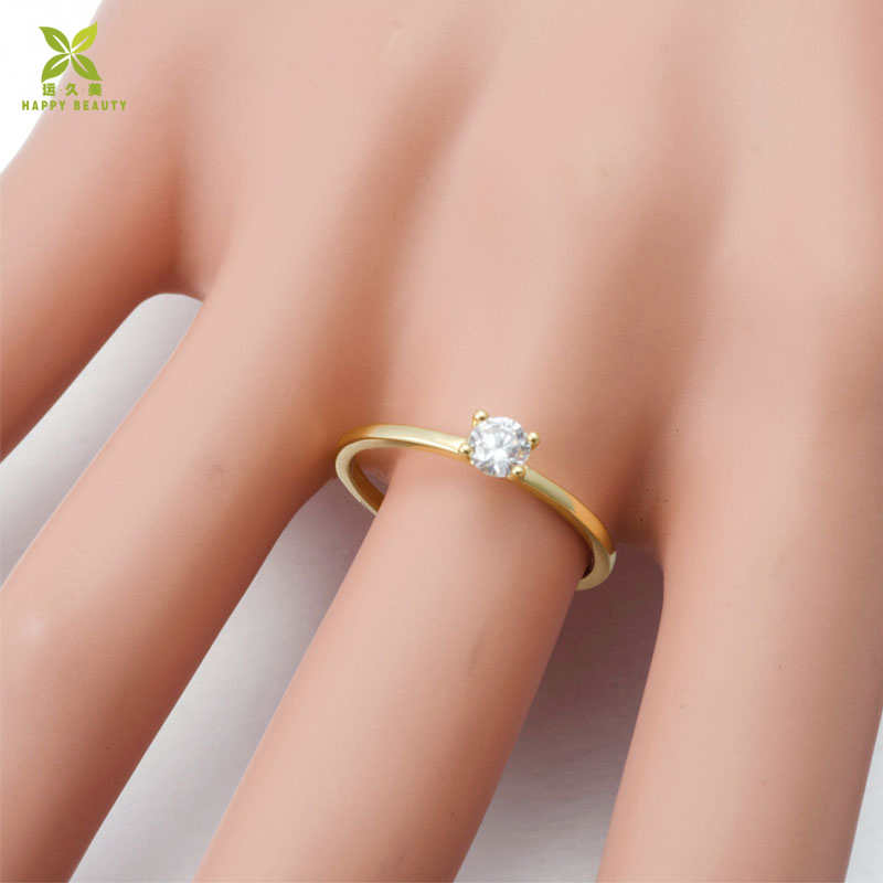 Latest wedding ring jewelry,14k gold single stone ring designs