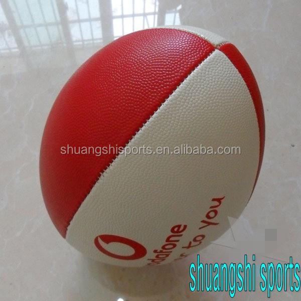 machine stitch custom print cheap rugby ball for promotion