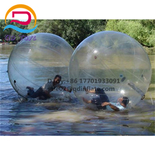 Person inside Bubble Show Ball water Transparent floating light ball inflatable water balls