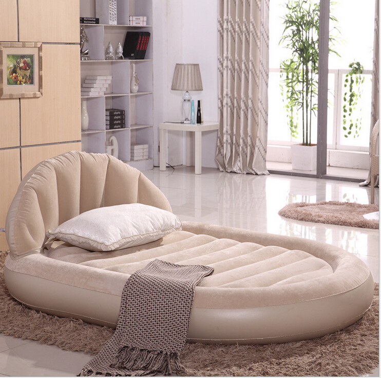large luxurious round double air bed inflatable mattress four seasons foldaway sofa inflatable. Black Bedroom Furniture Sets. Home Design Ideas