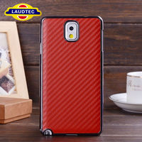 for Samsung Galaxy Note 3 Aluminum Metal Bumper Carbon Fiber Hard Back Cover Case