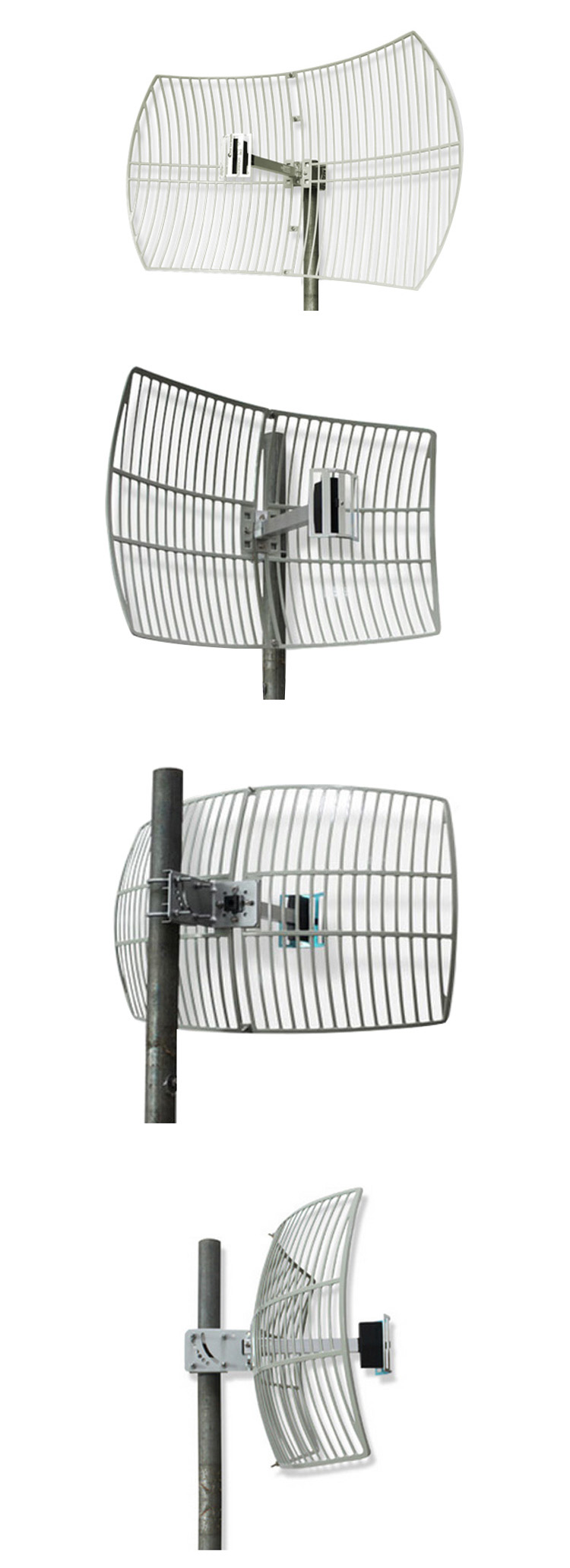 China Supplier Wifi Long Range 24dBi Directional Parabolic Dish Antennas with SMA Connector
