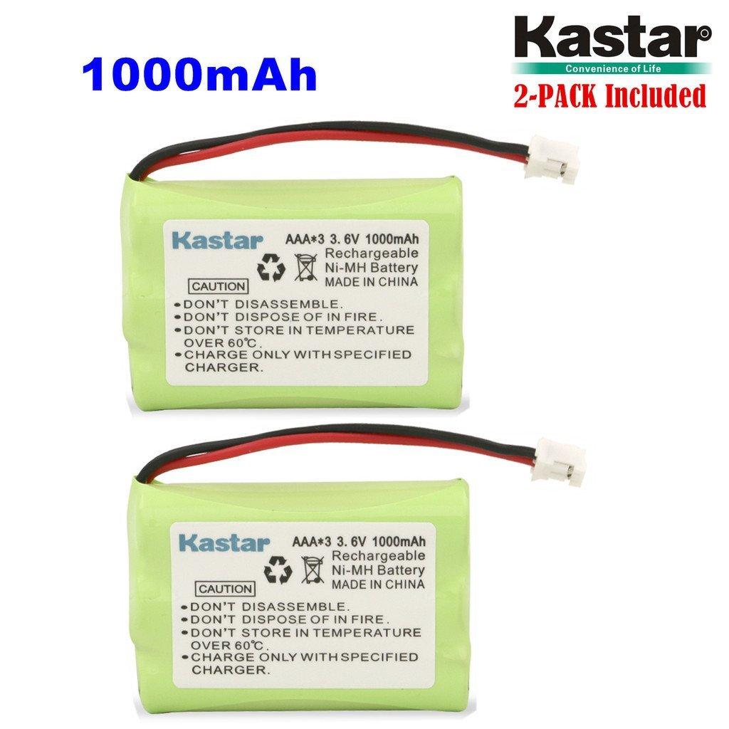 Kastar 2-PACK AAAx3 3.6V PH 1000mAh Ni-MH Battery for Motorola Series Monitor and Graco 2791, 2795DIG1, TMK NI-MH, 2796VIB1, iMonitor vibe