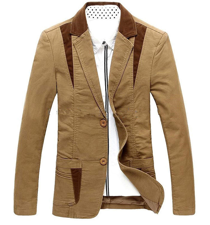 7d01ca0d6bbd Get Quotations · Thadensama Mens Casual Blazer Suit Men Cotton Blazer  Cultivating Mens Leisure Blazer Suits Tide Blazer Big