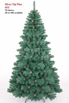 2.6m Bendable Christmas Tree White Tip Pvc Christmas Tree Pull Up ...