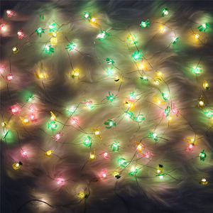 2M 20 LED Copper Wire String Lights LED Fairy Lights Christmas Wedding Decoration Lights Flamingo Cactus