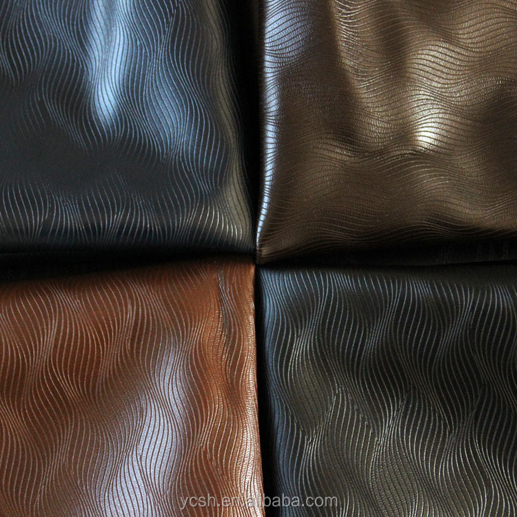 latest technology pu embossed pattern leather for shoes bag sofa chair furniture