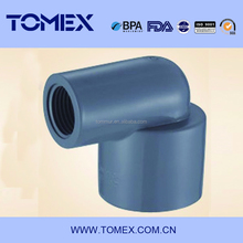 ASTM SCH80 varies of size PVC 90 degree reducing elbow plastic fitting