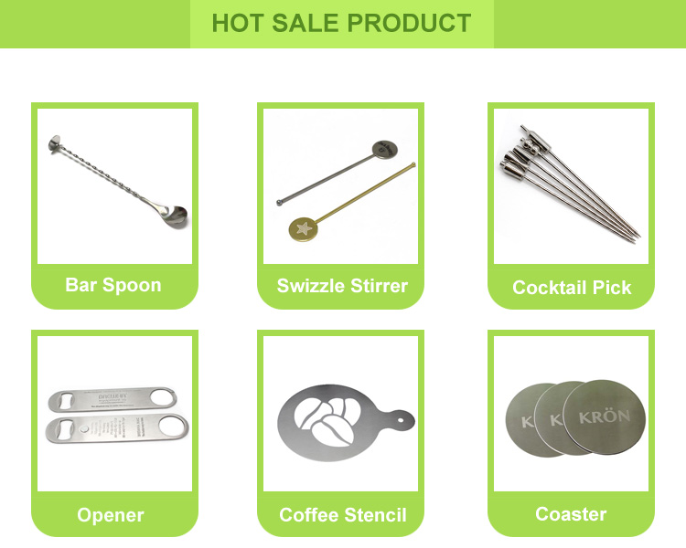 Hot Sale dekorative Barware Martini Edelstahl Cocktail Picks