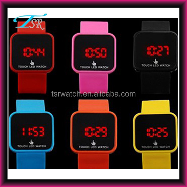 multi colors silicon band wrist led watch from china factory
