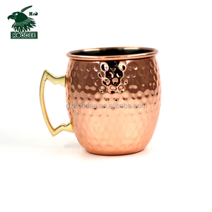 High Quality New Hot Hammered Solid Copper Mug 16oz Moscow Mule Copper Mug