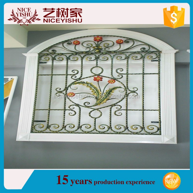 Simple Design Wrought Iron Window Grill / New Cheap Iron Window ...