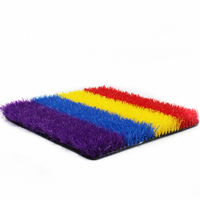 High Quality Rainbow Colored Artificial Grass and Synthetic turf Lawn for Kindergarten and Decoration