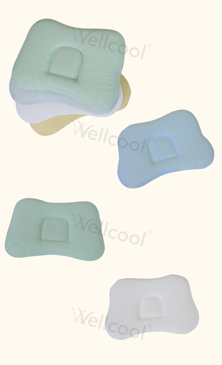 Manufacture summer cool mesh anti flat head baby pillow for newborn baby