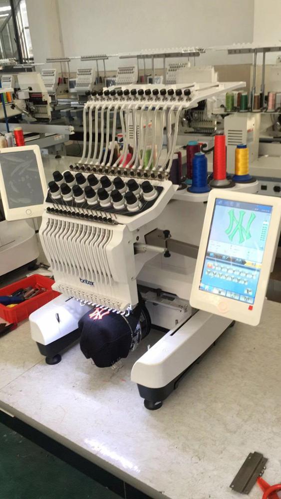 BR-3620 Single Head 15 Needles China Flat T-shirt Hat Embroidery Machine Computerized Embroidery Machine