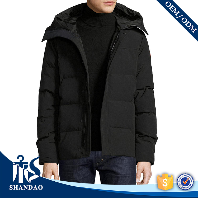 Shandao Custom High Quality Men Patch on Sleeve Black Warn Jacket Brand Names