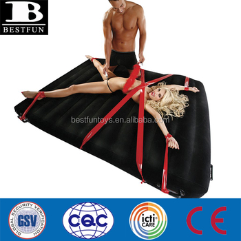 Women in air mattress bondage