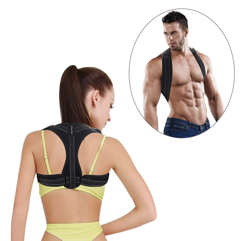 Posture Corrector Adjustable Posture Brace Upper Back Support Posture Support Shoulder Brace Slouching Corrective for Men,Women and child (M)