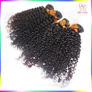 Fashion Idol Hair 10A Natural Kinky Curly Burmese Human Hair Guangzhou Hair Company