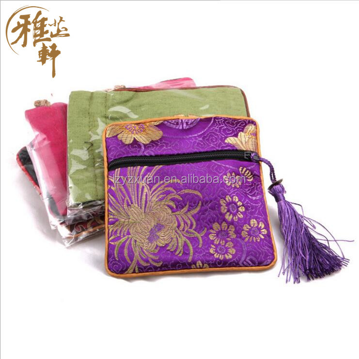 Low Price Chinese funny silk jewelry gift bag with high quality