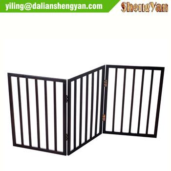Folding Wood Pet Gate 3 Panel