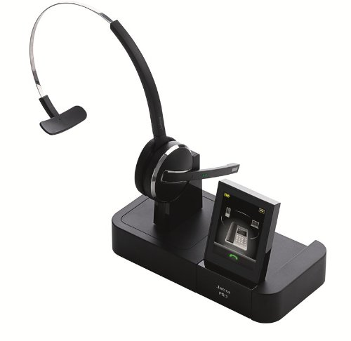 Jabra PRO 9470 Mono Wireless Headset with Touchscreen for Deskphone, Softphone & Mobile Phone