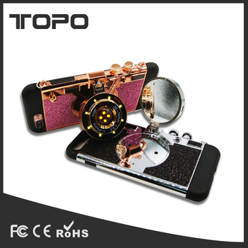 quality design eb4d1 5ddf3 Luxury 3d Camera Lens Selfie Led Light Flashlight Tpu Pc Mirror Back Cell  Phone Cover For Iphone 6 7 Plus - Buy Camera Phone Case,Led Light Phone ...