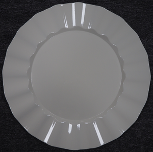 Creamy White Charger Plates Wholesale Plastic