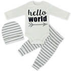 Wholesale Baby Girls Clothing fall/winter Sets Baby Girls Clothes Suits Long Sleeve Character Romper +Stripe Pants 2PCS set