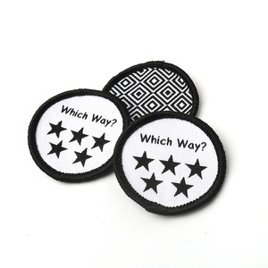 Iron on Sticker Fabric Patch Maker Custom Made Star Brand Logo Machine Mini Woven Badges for Kids Clothes