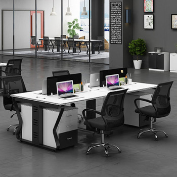 Wire Hidden Office Workstation 4 Person Office Workstation Office Cubicle on