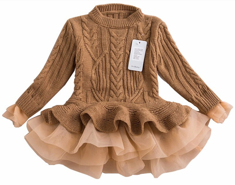 9110d8e15e3 Buy Knitted Sweater Dress Pullovers Sweaters With Lace Shrugs Dresses  Crochet Long Girls sweater 2015 Autumn Winter Kids in Cheap Price on  Alibaba.com