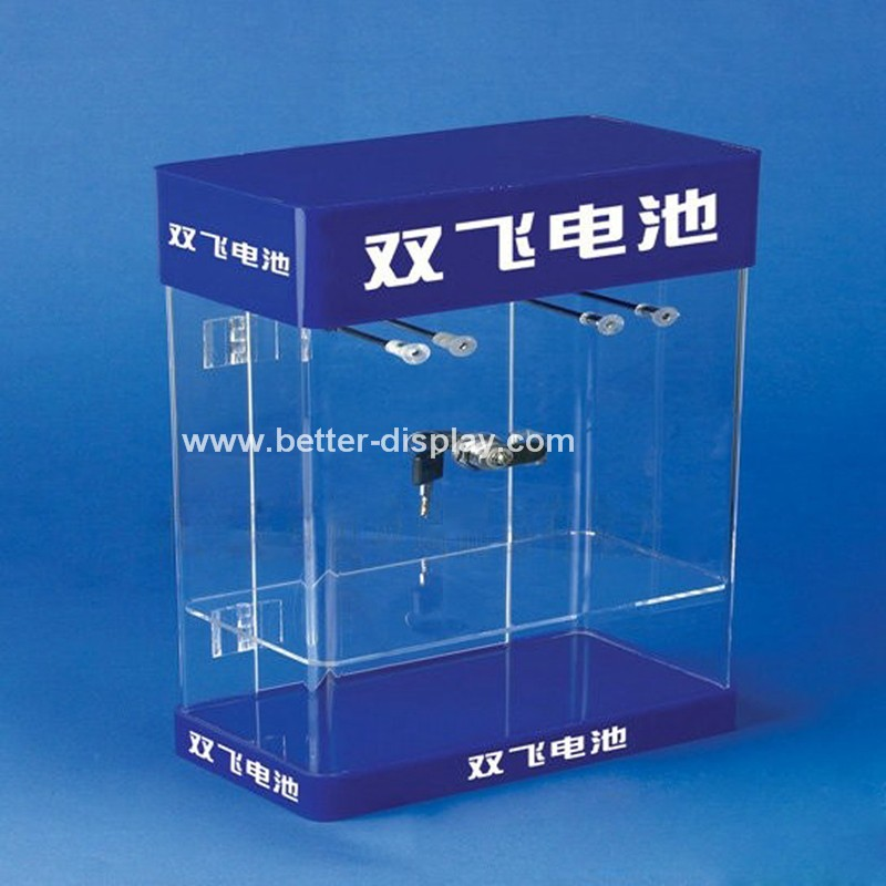 custom acrylic organic glass battery display cabinet