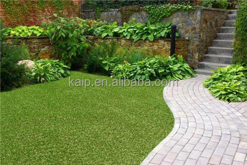 Artificial grass turf artificial grass mat with natural beige thatch