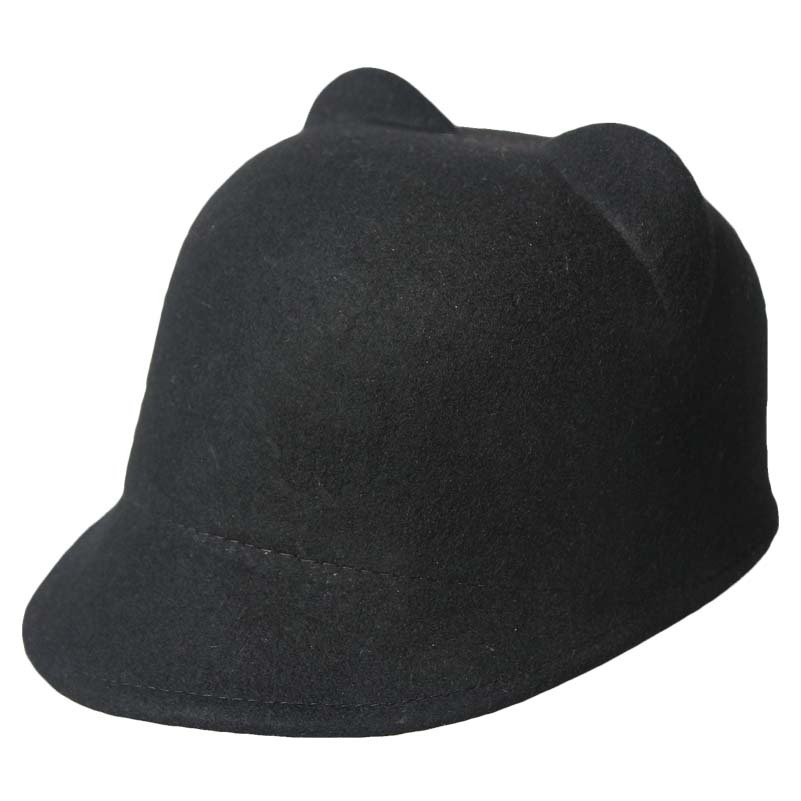 05d56fa4032 Get Quotations · Cat ears jazz hat fedoras autumn and winter wool warm hat  male Women fashion cap autumn