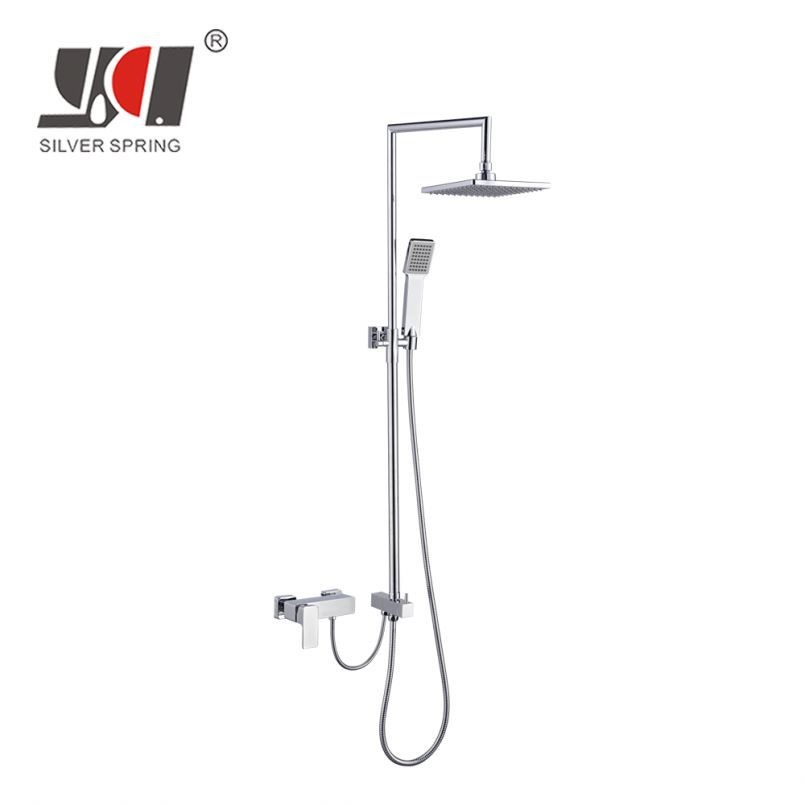 Gold supplier superior customer care plastic bathroom long handle exposed shower head
