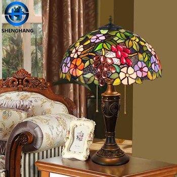 Tiffany style wholesale antique table lamp with new design high tiffany style wholesale antique table lamp with new design high quality colored lamp shade aloadofball Images