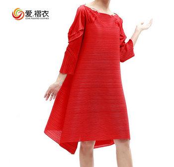 Spring Maternity Wear Full Sleeve Long Flowing Dress Maternity Maxi Dress
