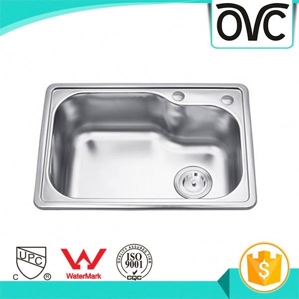 Professional newest single bowl large size built-in drainboard kitchen sink