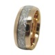 mens 8mm domed meteorite inlay tungsten carbide bands