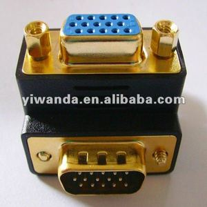 gold plated wireless vga db 15pin female to male gender adapter manufacturer