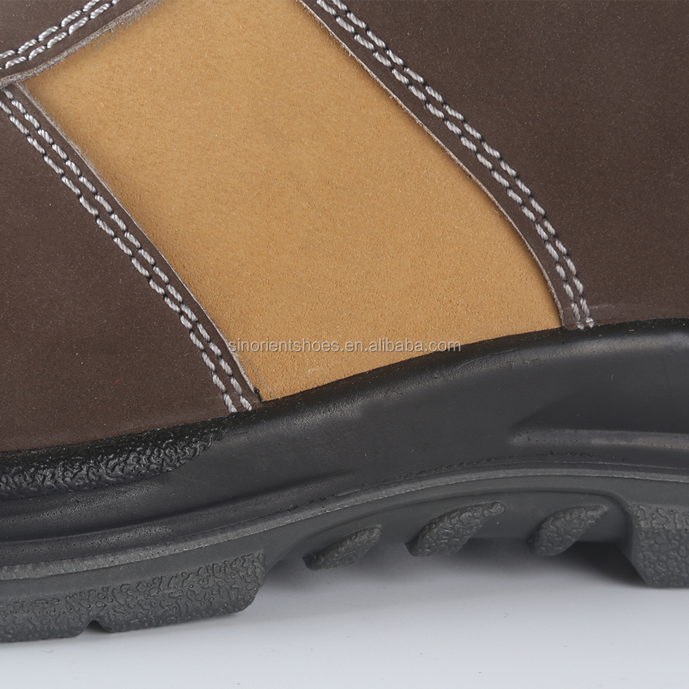 china manufaturer good quality nubuck leather woodland safety shoes price,security guard wholesale work boots made in chinSN427